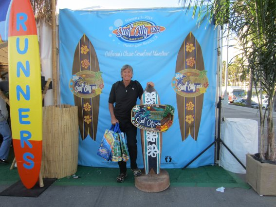 Dr Reiter at the LA Surf City Marathon Race Expo. (Picture from Dr Anton Reiter).