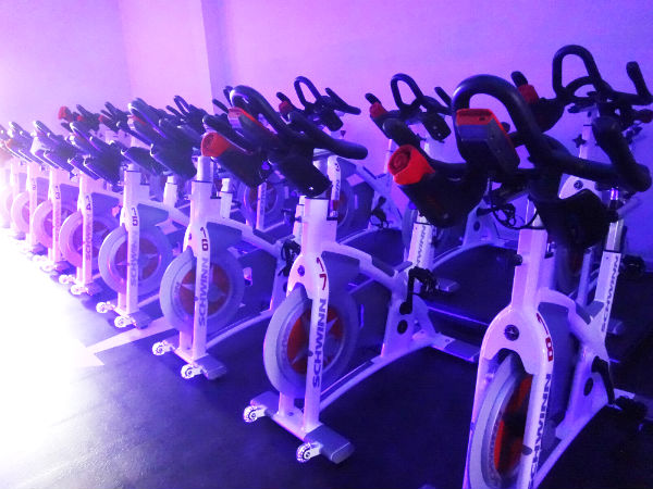 Bikes all ready for action at Spinning Quest.