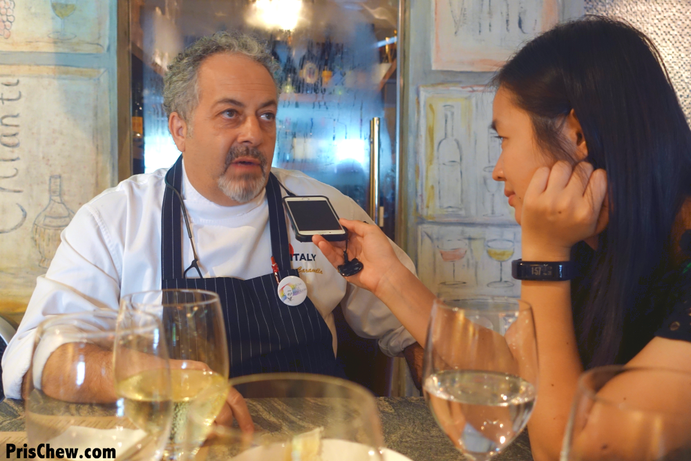 I had the chance to interview Chef Mario, who prides himself on his authentic Italian cuisine.