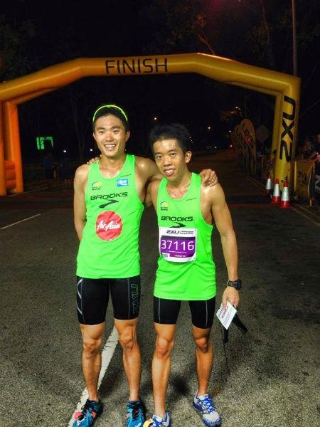 Ivan Low and his best buddy, Mok Ying Ren.