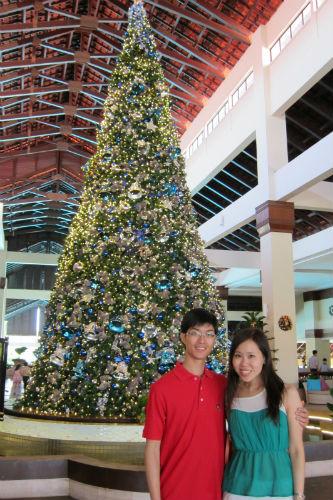 Jaslyn and her husband Derrick enjoying Christmas in Australia. (Picture courtesy of Jaslyn Lai).