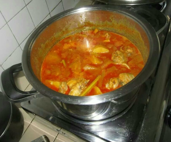 Jason is a great chef, capable of whipping up a yummy pot of curry chicken.
