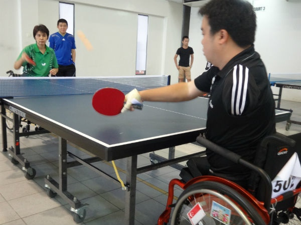 Jason Chee, who may have only one arm and no legs, but has an admirable never-say-die spirit.