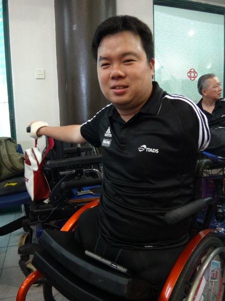 Jason was a bronze medallist in the ASEAN Para Games this year.