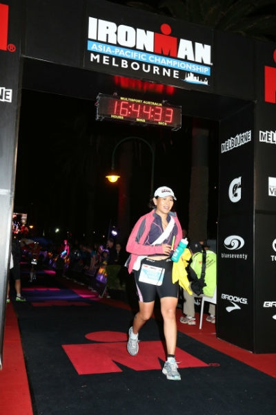 And...she's conquered the Ironman!