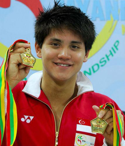 Swimming sensation Joseph Schooling won five golds at the 2013 SEA Games. (Picture by Gavin Foo, TNP Online)