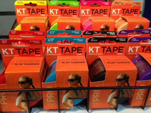 Dr Tho doesn't recommend running with kinesio tapes, if you can't run pain-free without them.