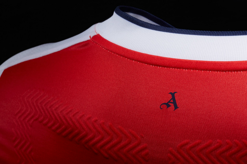 The gothic 'A' is inspired by Arsenal's original logo.