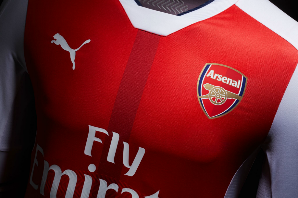 The new kit is a classic red colour.