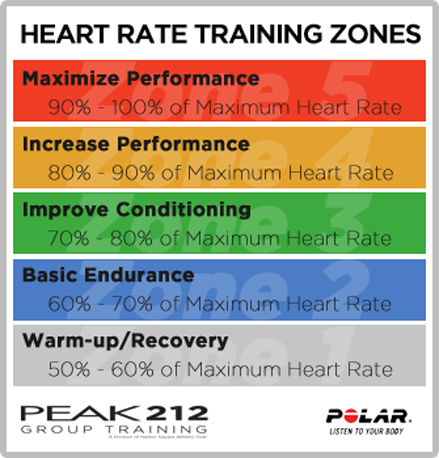 There are 5 heart rate zones.