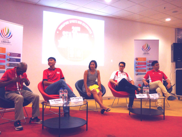 Singapore sports legends make their appearance at the Sports Hub.
