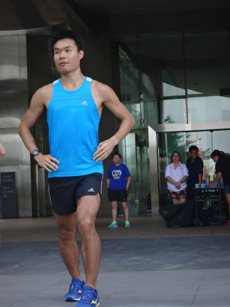 Lim Thow Wee, the speaker for last Saturday's running clinic.