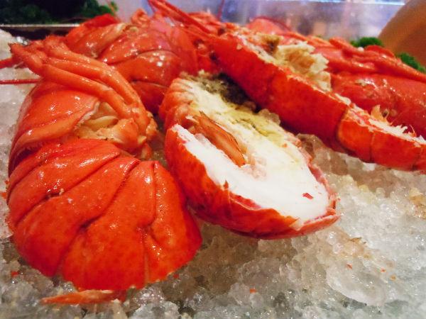Scrumptious lobsters.