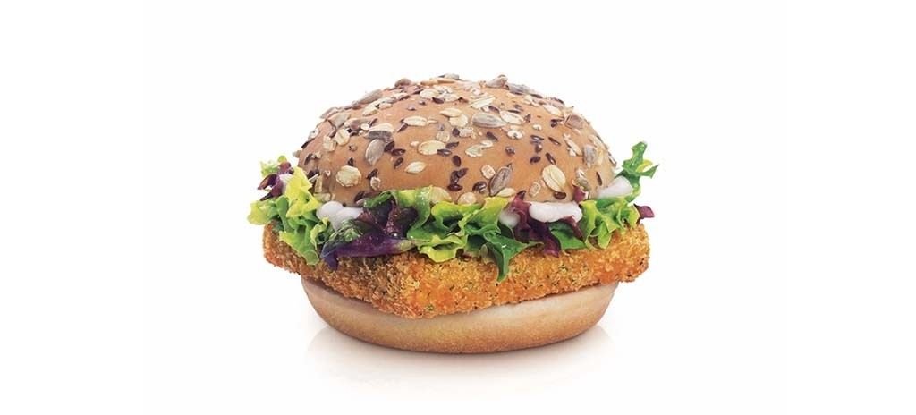 McDonald's has introduced the Hokkaido Salmon burger. [Photo from McDonald's]