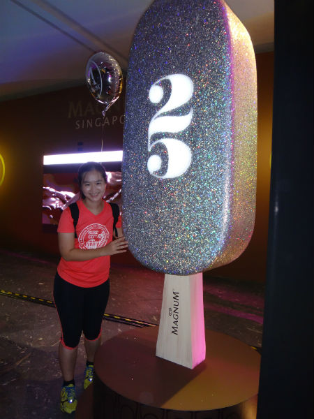 Celebrating Magnum's 25th birthday in Singapore.