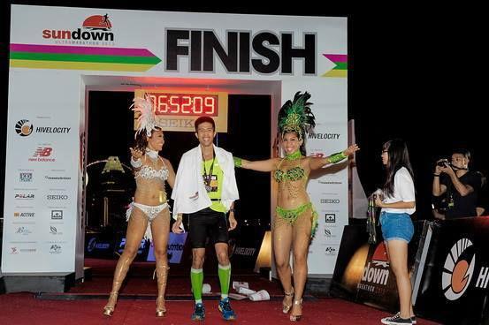 Winning the Sundown Ultra Marathon 100km team of 4 relay event.