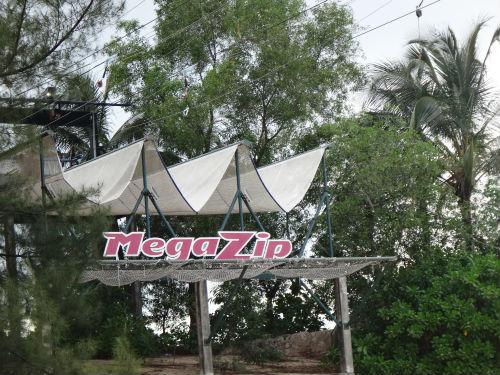 Megazip end point @ the Sentosa Megazip Adventure Park, Singapore.