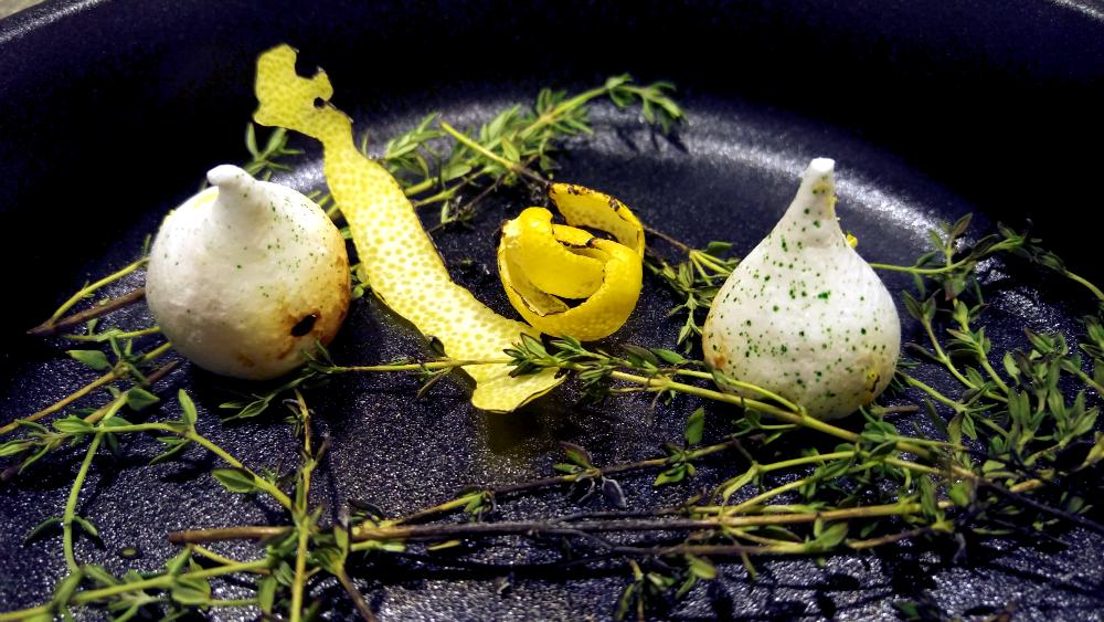 Lemon Thyme Meringues.