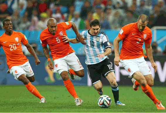 Messi is a marked man. (Image: telegraph.co.uk)