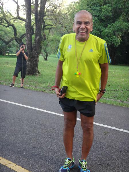 The ever-energetic Mohan Marathon.