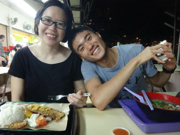 Mok and his girlfriend, Belinda Ooi.