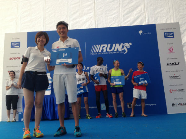 Mok wins Pocari Sweat Run 2014.