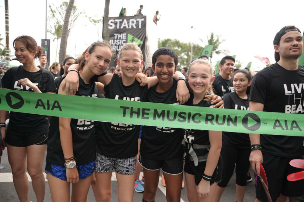 Participants at The Music Run 2016.