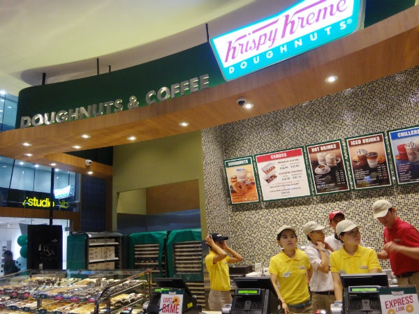 The new Krispy Kreme store at Raffles Place, in the CBD.