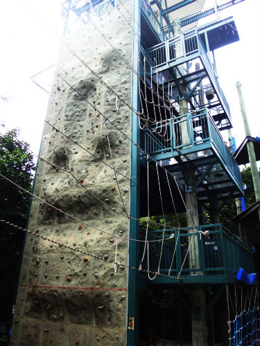 The Northface rock wall.