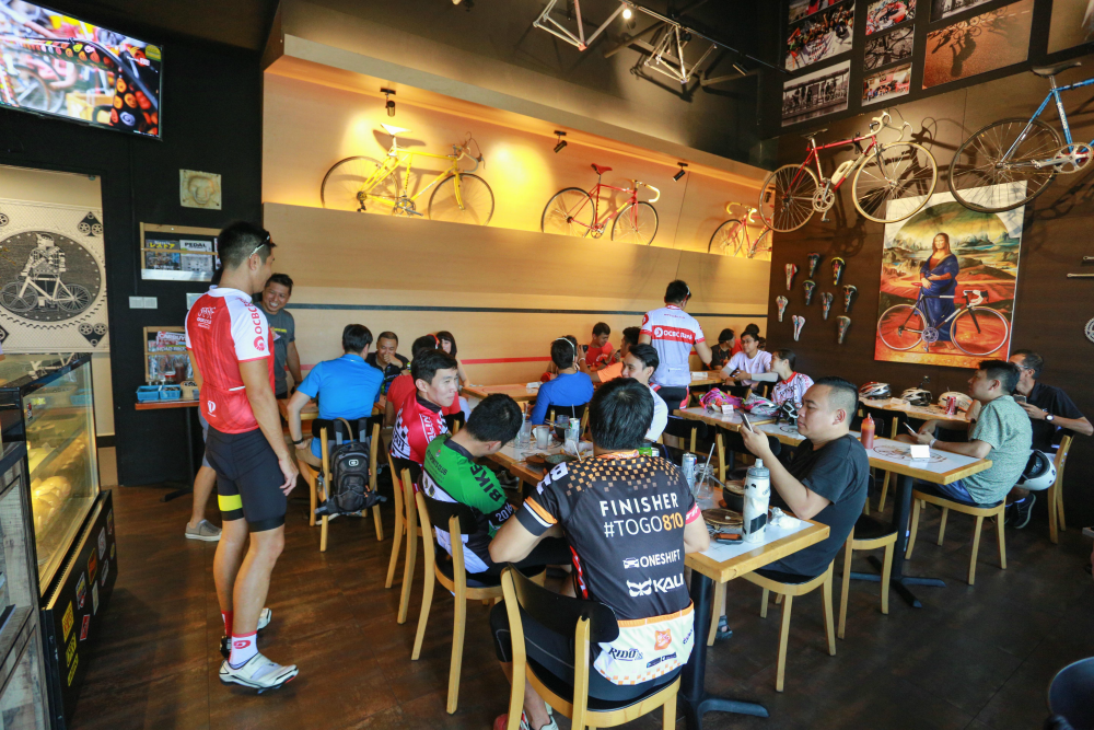 The cafe will certainly appeal to cyclists from all walks of life.