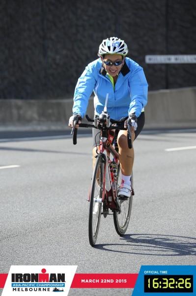 The bike leg is underway. Credit: Ironman Melbourne.
