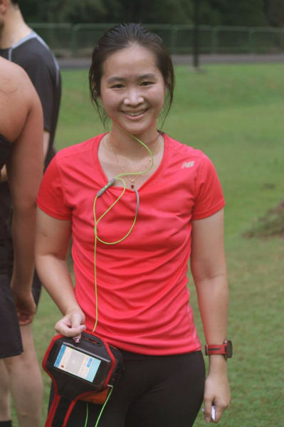 Hot and sweaty after completing my 5Km run.