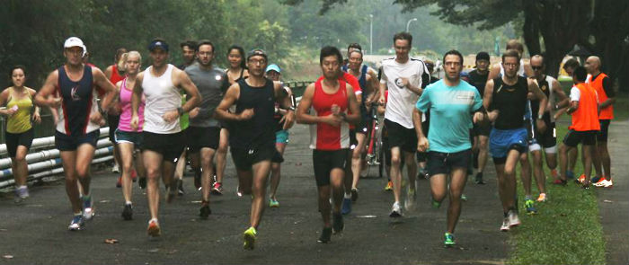 The East Coast park Parkrun runners are off! (Image: Parkrun)