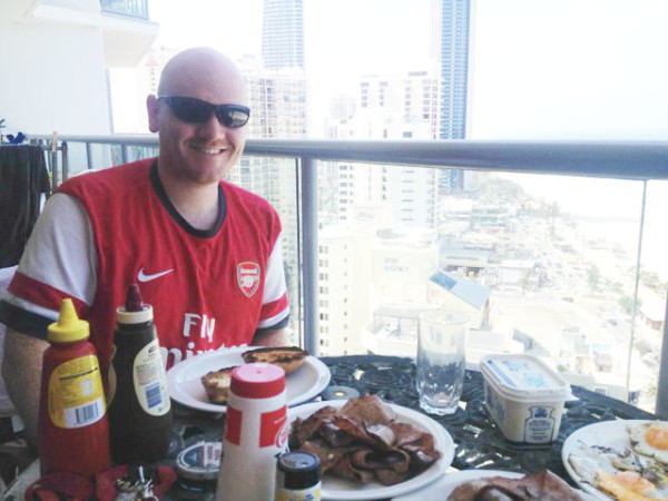 "Peter Anderson, the ""Gooner On The Road."" (courtesy of Peter Anderson)"
