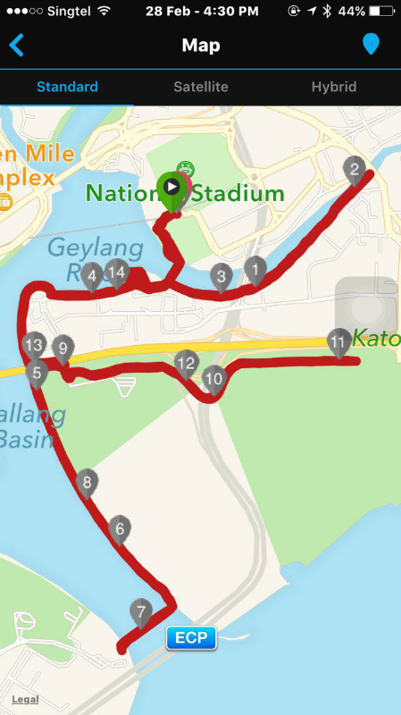 The running route.