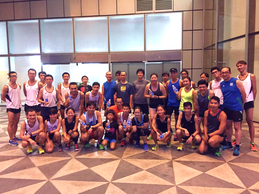 The final running clinic took place yesterday.