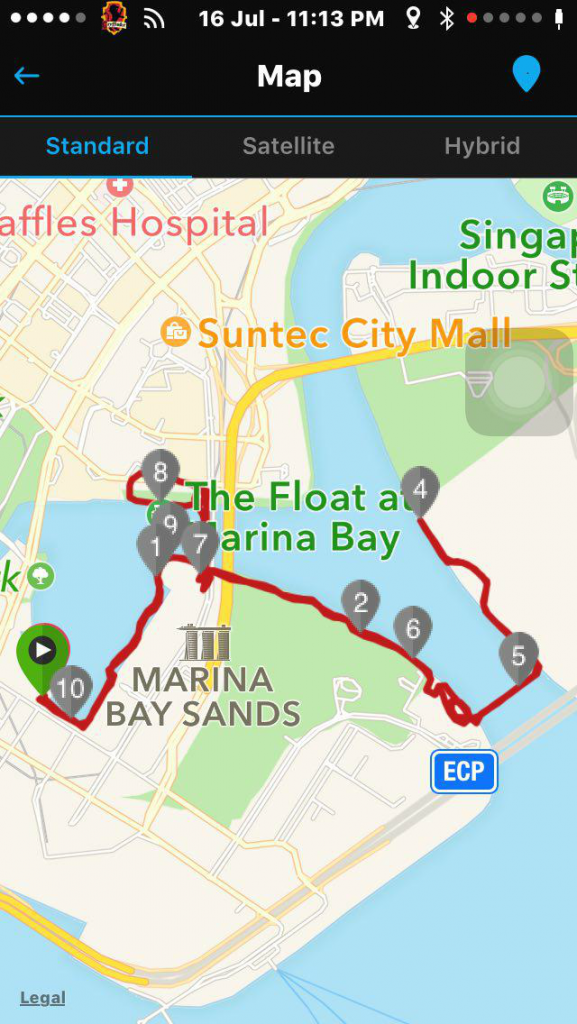 This is the running route I completed.