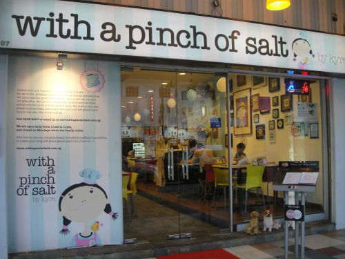 With a pinch of salt is a cute Western cafe in Tanjong Katong.