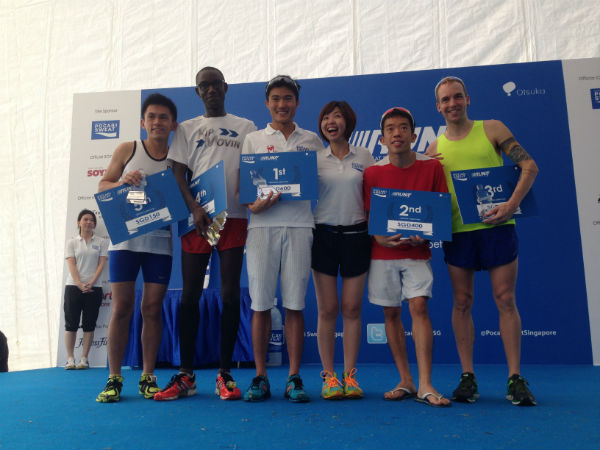 Presenting your champions for the Pocari Sweat Men's 10km category.