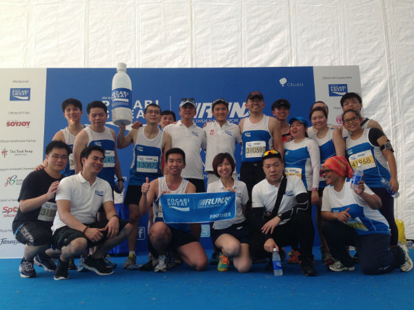 The Pocari Sweat team