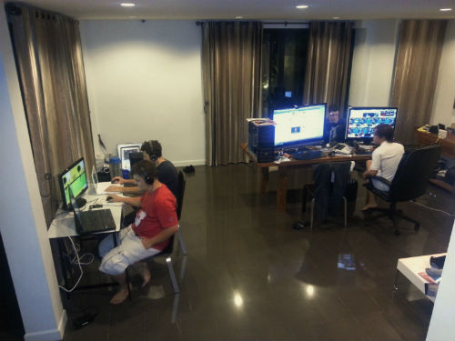 Rio and his friends are hard at work. (Picture courtesy of Rio Lim).