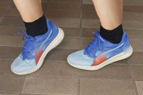 Trying on the Puma Ignites - and they're very comfortable.