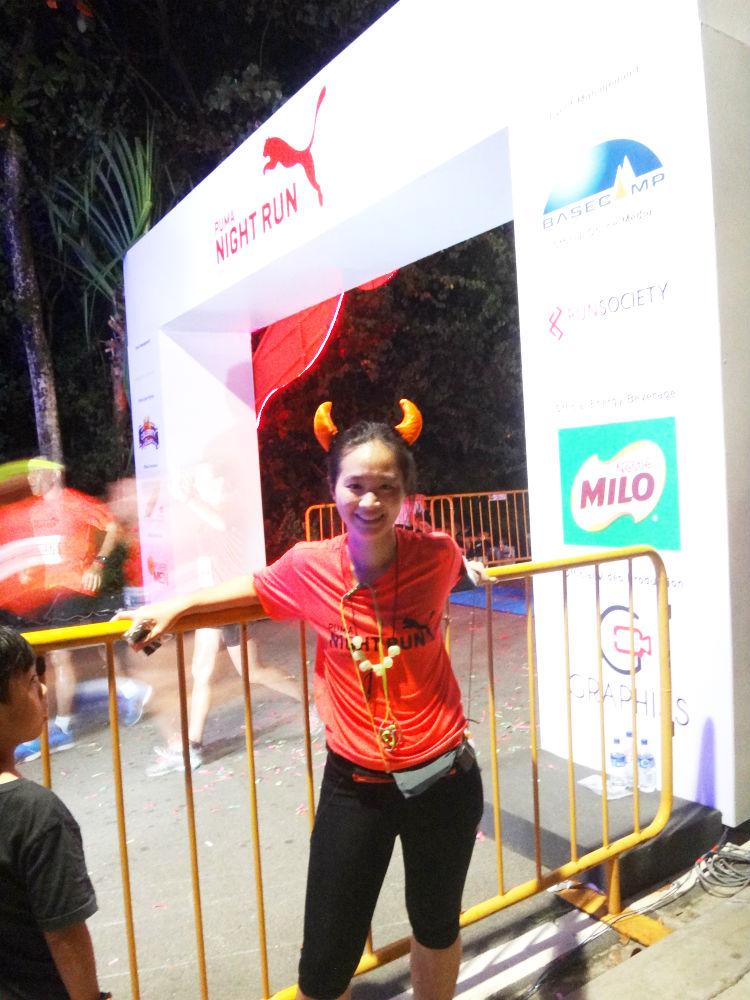 Yay I conquered the Puma Night Run!