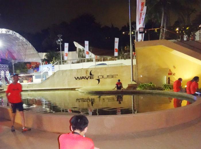 Near the Siloso Beach area, after the Puma Night Run.