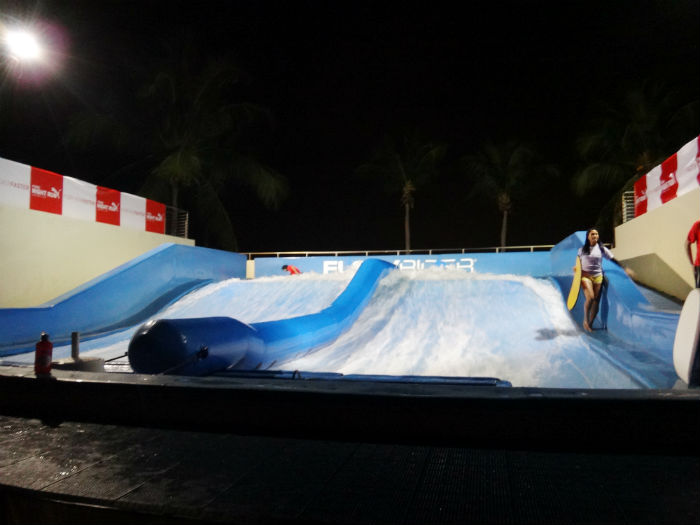 The Flow Rider, a surfing simulation activity.
