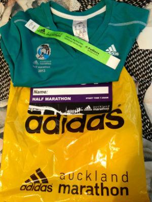 Race gear for the Adidas Auckland Marathon.