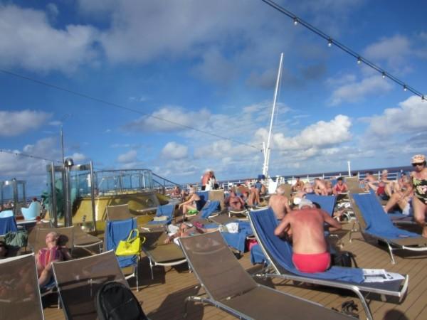 The deck on Costa Deliziosa