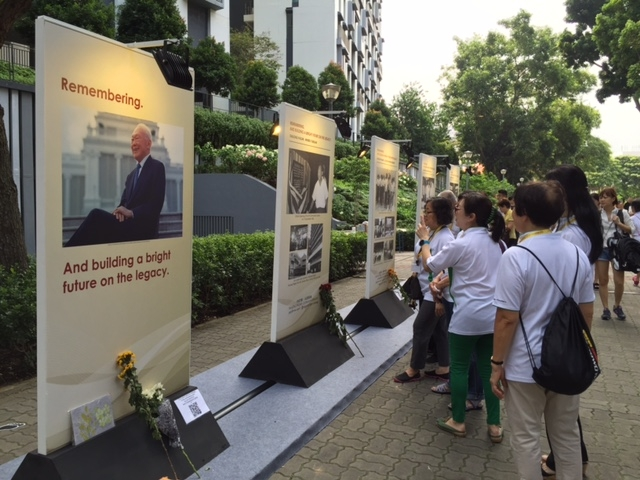 Remembrance panels are on display at Duxton Hill Park. [Photo: TODAY]