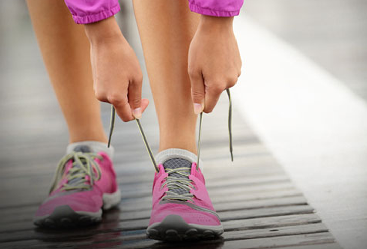 Ill-fitting running shoes are likely to cause problems.