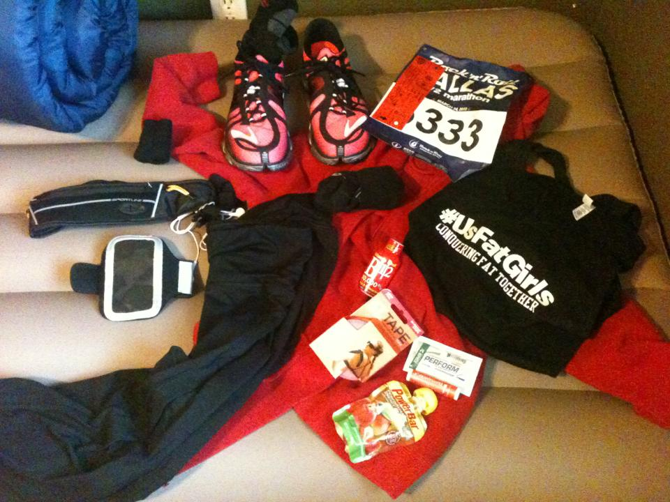 Get your gear ready the night before the race. Photo by usfatgirls.wordpress.com